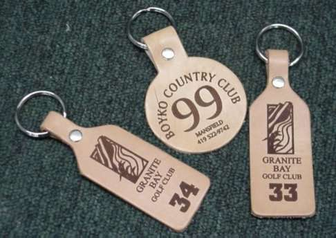 Leather Golf Cart Key Tags, AblePrint/Toucan