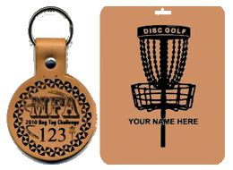 Leather Disc Golf Tags, Disc Golf Supplies and Disc Golf Gifts