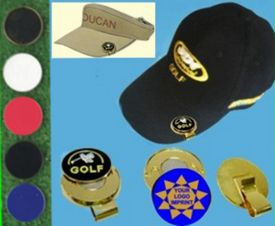 golf hat clips