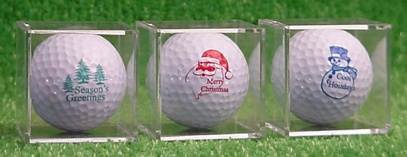 Holiday Golf Balls, Santa, Christas, Snowman