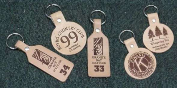 Leather Golf Cart Key Tags, Golf Supplies and Golf Gifts