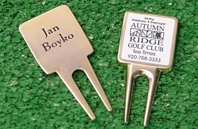Golden Keepsake Divot Tools, Golf Outing Gift