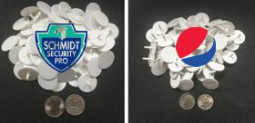 Ultra Thin Ball Markers in single or full color imprints